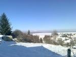 Téli árnyak a Kab-hegy panorámájával