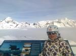A levegö királya és a Matrei-i csucs, leghátul a Grosglockner, Ausztria legmagasabb csucsa